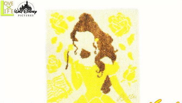 【ディズニープリンセス】ミニタオル【シルエットベル】【ベル】【美女と野獣】【シルエット】【ディズニー】【タオル】【アニメ】【映画】【ハンカチ】【かわいい】