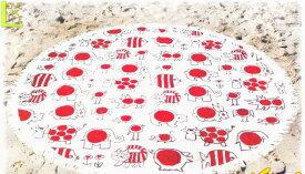 【リサ・ラーソン】ラウンドビーチタオル【ベイビーマイキーラウンド】【海水浴】【海】【レジャー】【ビーチタオル】【マイキー】【北欧】【デザイン】【デザイナー】【スウェーデン】【タオル】【グッズ】【かわいい】