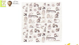 【日本製】【リサ・ラーソン】ハンカチ【スケッチシリーズ】【ピンク】【ハンカチーフ】【デザイン】【デザイナー】【スウェーデン】【グッズ】【たおる】【かわいい】