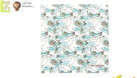 【日本製】【リサ・ラーソン】ハンカチ【レトロバードハンカチ】【グリーン】【ハンカチーフ】【デザイン】【デザイナー】【スウェーデン】【グッズ】【たおる】【かわいい】