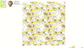 【日本製】【リサ・ラーソン】ハンカチ【レトロバードハンカチ】【イエロー】【ハンカチーフ】【デザイン】【デザイナー】【スウェーデン】【グッズ】【たおる】【かわいい】