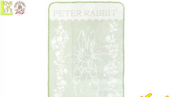 【日本製】【ピーターラビット】【Peter Rabbit】ウールひざ掛け【リーフプログレス】【ブランケット】【ひざ掛け】【ウサギ】【生活】【絵本】【児童書】【グッズ】【たおる】【かわいい】