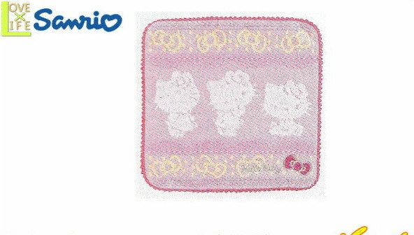 【ハローキティ】ミニタオル【ピンク】【エレガントシルエットリボンレース】【Kitty】【キティ】【キティちゃん】【グッズ】【サンリオ】【3色】【タオル】【たおる】【かわいい】