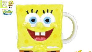 【スポンジボブ】ダイカットマグ【フェイス】【カーニバーガー】【SpongeBob】【マグ】【コップ】【カップ】【キャラ】【食器】【ボブ】【かわいい】