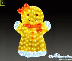 【イルミネーション】クッキーガール【クッキー】【アート】【お菓子】【ビスケット】【焼き菓子】【あめ】【LED】【クリスタル】【電飾】【モチーフ】【クリスマス】【かわいい】