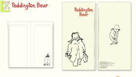 【送料無料】【日本製】【くまのパディントン】チケットホルダー【ラインアート】【Paddington Bear】【パディントンベア】【チケット入れ】【付箋】【絵本】【児童書】【かわいい】