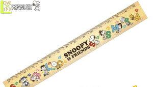 【スヌーピー】【SNOOPY】両面スリム定規【アルファベット】【ピーナッツ】【定規】【ものさし】【物差し】【文房具】【スクール】【学校】【勉強】【かわいい】