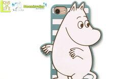 【ムーミン】【Moomin】iPhone8 シリコンケース【ムーミンボーダー】【アイホン】【アイフォン】【iPhone8】【スマホケース】【シリコン】【生活雑貨】【アニメ】【グッズ】【かわいい】