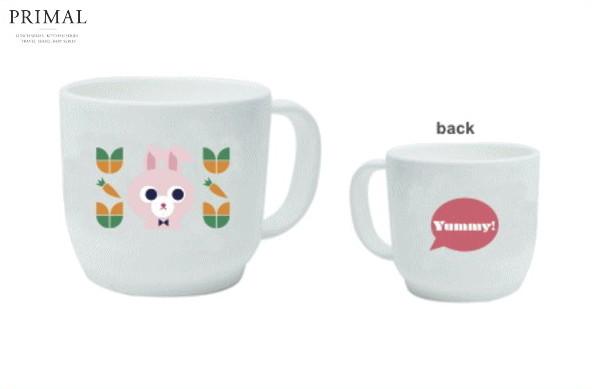 【YUMMY】プラスチックマグ【ウサギ】【マグ】【カップ】【キッチン】【スタッキング】【贈り物】【赤ちゃん】【赤ん坊】【ベイビー】【ベビー】【食器】【食事】【かわいい】