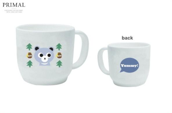 【YUMMY】プラスチックマグ【クマ】【マグ】【カップ】【キッチン】【スタッキング】【贈り物】【赤ちゃん】【赤ん坊】【ベイビー】【ベビー】【食器】【食事】【かわいい】