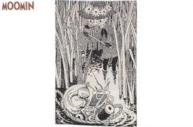 【ムーミン】【Moomin】ラグマット【つり上げたカゴ】【原画】【リトルミイ】【モノクロ】【マット】【玄関】【お出迎え】【ラグ】【インテリア】【アニメ】【グッズ】【かわいい】