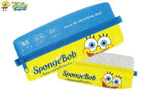 【スポンジボブ】ビッグファスナーペンポーチ【ドアップ】【SpongeBob】【ボブ】 【文房具】【学校】【勉強】【生活雑貨】【ペンケース】【筆箱】【キャラ】【かわいい】