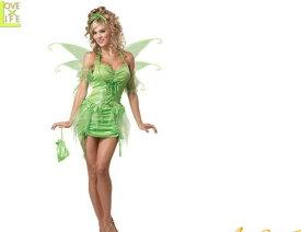 【レディ】ティンカーベル【TINKERBELL FAIRY】【ピータパン】【妖精】【カリフォルニア】【仮装】【衣装】【コスプレ】【コスチューム】【ハロウィン】【パーティ】【イベント】【かわいい】今年のハロウィンはかわいい衣装でかっこよく着こなし 目立っちゃおう