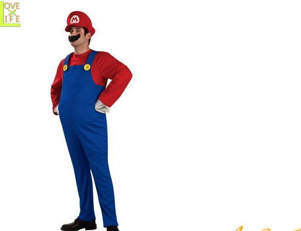 【メンズ】マリオ【Mario】【スーパーマリオ】【ゲーム】【任天堂】【キャラクター】【仮装】【衣装】【コスプレ】【コスチューム】【ハロウィン】【パーティ】【イベント】【かわいい】今年のハロウィンはかわいい衣装でかっこよく着こなし 目立っちゃいましょう