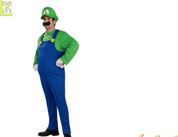 【メンズ】ルイージ【Luigi】【スーパーマリオ】【ゲーム】【任天堂】【キャラクター】【仮装】【衣装】【コスプレ】【コスチューム】【ハロウィン】【パーティ】【イベント】【かわいい】今年のハロウィンはかわいい衣装でかっこよく着こなし 目立っちゃいましょう