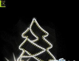 【20 】ツインカラー ツリー【壁掛け】【モチーフ】【ツリー】【木】【森】かわいい形のツリーが登場!2重のラインでかわいさアップ♪【2013年新作】【送料無料】【大人気】【イルミネーション】【クリスマス】【LED】【大人気】【大人気】