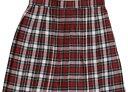 【最終価格】Teens Ever プリーツスカート チェック(赤×白×黒)♪左脇のポケットとウエストの3段階調整金具が機…