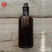 アンティークポイズンボトル薬瓶イギリス製アンバーガラスビンブロカントインテリア