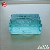 ガラスキューブLサイズバリガラスペーパーウエイトインテリアガラス
