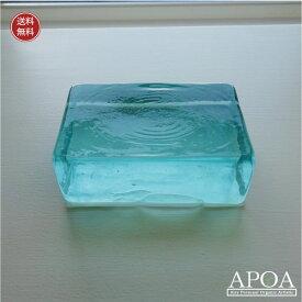 ガラスキューブ Lサイズ バリガラス ペーパーウエイト インテリアガラス
