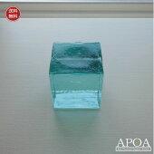 ガラスキューブMサイズバリガラスペーパーウエイトインテリアガラス