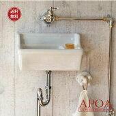シンプルな壁付型手洗い器[洗面ボウル/手洗い鉢/洗面器/手洗器/ホワイト/ブランカ/スロウカラーズ/ナチュラル/シンプル/1.8L//おしゃれ/洗面台]
