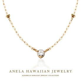 ハワイアンジュエリー ネックレス レディース ハワジュ アクセサリー K10イエローゴールド ダイヤモンド 送料無料 あす楽 プレゼント 人気 アネラ ダイヤモンドネックレス ホワイトデー アクアヴェール