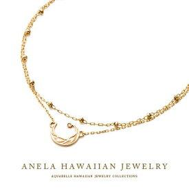 ハワイアンジュエリー ブレスレット レディース ハワジュ アクセサリー K10 イエローゴールド ダイヤモンド 送料無料 あす楽 プレゼント アネラ ムーン ブレスレット 月 海 誕生日プレゼント 記念日 アクアヴェール