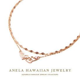 ハワイアンジュエリー ブレスレット レディース ハワジュ アクセサリー K10 ピンクゴールド ダイヤモンド 送料無料 あす楽 プレゼント アネラ ハート ブレスレット 海 誕生日プレゼント 記念日 アクアヴェール