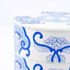 二段重ホワイトデー限定古伊万里草花紋ブルーJAPANBLUE有田焼