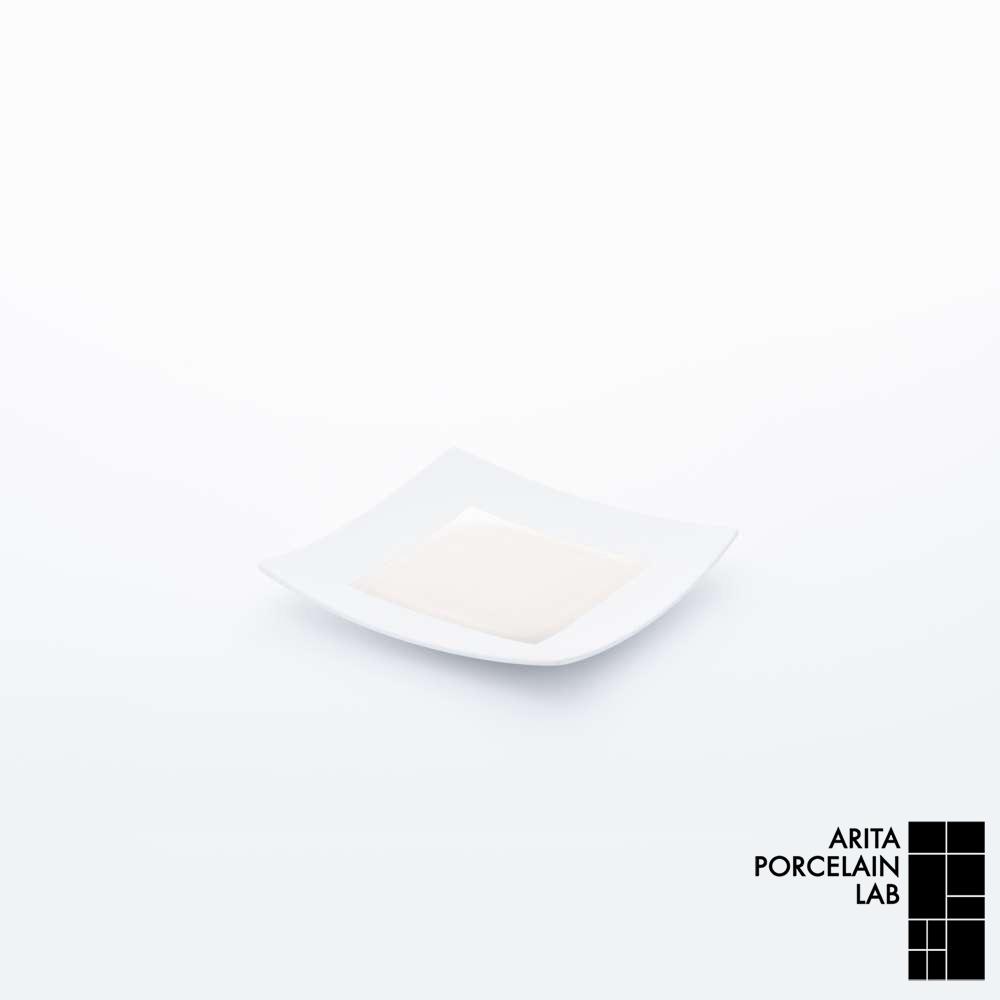 有田焼/角皿 JAPAN SNOW 正方皿 (小) プラチナ 175×175mm アリタ・ポーセリン・ラボ