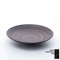 有田焼/丸皿APL定番商品Sabi(サビ)平皿(中)錆線紋Φ210mmアリタ・ポーセリン・ラボ
