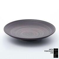 有田焼/丸皿APL定番商品Sabi(サビ)平皿(大)錆線紋Φ270mmアリタ・ポーセリン・ラボ