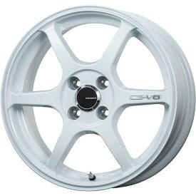【取付対象】【送料無料】 155/65R14 14インチ LEHRMEISTER レアマイスター CS-V6(ホワイト) 4.5J 4.50-14 DUNLOP ルマン V(ファイブ) サマータイヤ ホイール4本セット