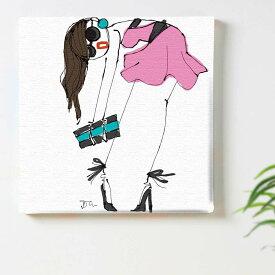 三浦大地 ファッション ガールのインテリア用アートパネル ファブリック パネル ポスター ボード 壁掛け アート 絵 おしゃれ インテリア 玄関 30cm×30cm Mサイズ 【返金保証】