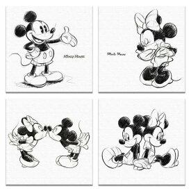 【アートデリ】ミッキー&ミニーの壁掛けアートセット インテリア 雑貨 アート ミッキーマウス ミニーマウス dsn-0146_dsn-0148_dsn-0152_dsn-0249