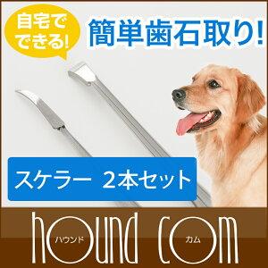愛犬の歯のケアにおススメ♪愛犬用歯石取りスケラー平型&先細セット