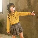 【送料無料】 子供服 女の子 クラシカル ブラウス ガールズ 長袖 リボン付き フリル トップス キッズ かわいい レト…