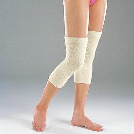 シルクサポーター 膝用 のびのびナチュラル サポーター(ひざ用2枚組)ショートタイプ のびのび構造 絹 膝 高伸縮性 日本製 マルエーニット
