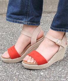 ジュートウェッジストラップサンダル 送料無料 【 minia ミニア 】 エッジソール 厚底 サンダル ストラップサンダル 歩きやすい レディース シューズ 靴