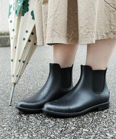 サイドゴアレインブーツ minia ◆ 送料無料 レインシューズ ミドルブーツ サイドゴア フラット 長靴 レディース シューズ 靴