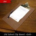 penco ペンコ クリップボード A4 おしゃれ オールドスクール ゴールド チェック 用箋挟 クリップ ボード 壁掛け サイン 署名 伝票 挟む バインダー...