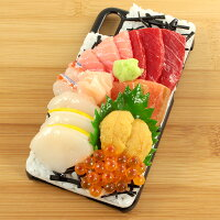 【メール便不可】食品サンプル屋さんのスマホケース(iPhoneX:海鮮丼[ブラック])[食品サンプル/iPhone/ケース/カバー/雑貨/食べ物/スマートフォン]