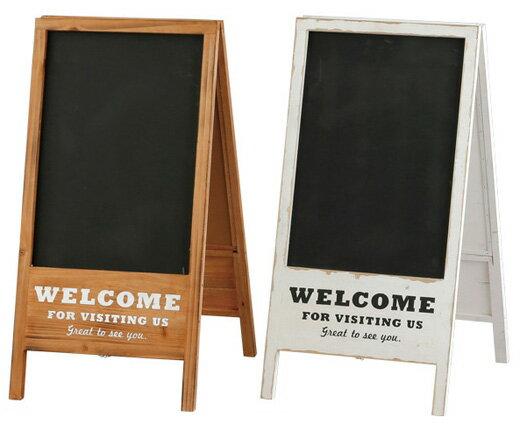 送料無料 両面 ボード 黒板 ウェルカムボード 店舗用 立て看板 木製 ブラックボード