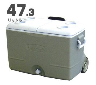 Rubbermaid大型冷气设备箱(47.3L)解说员/轮罩、拉手法灰色