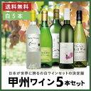 【送料無料 ワイン 山梨】日本ワイン セット[ 甲州ワイン 5本セット ]<第19弾>