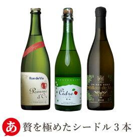 【 送料無料 】シャンパン製法 極上シードル3本セット[750ml×3本] ワインセット スパークリングワイン 日本ワイン 国産