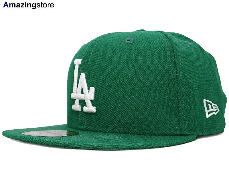 NEW ERA LOS ANGELS DODGERS 【TEAM-BASIC/GREEN-WHITE】 ニューエラ ロサンゼルス ドジャース [ 帽子 ヘッドギア new era cap ニューエラキャップ new eraキャップ neweraキャップ 大きい サイズ メンズ レディース WORK CAP ワークキャップ LA CAP 59FIFTY]