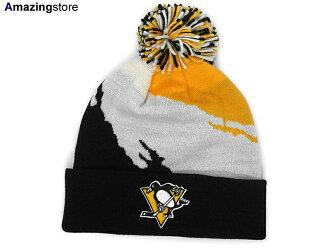 MITCHELL NESS PITTSBURGH PENGUINS Mitchell & Ness Pittsburgh Penguins knit hat Beanie [Hat head gear new era Cap newera Cap large size mens ladies JORDAN LA NY BK]