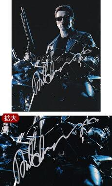 【直筆サイン入り写真】ターミネーターT-800グッズアーノルド・シュワルツェネッガー/映画ブロマイドオートグラフ/フレーム別